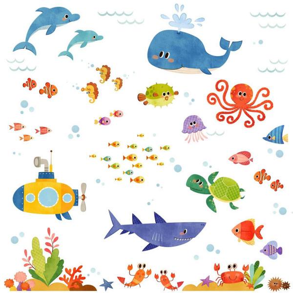Wandsticker Unterwasser Abenteuer Haifisch klein