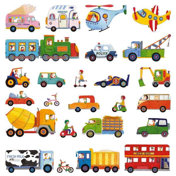 Wandsticker Autos LKW Truck Bus Bahn