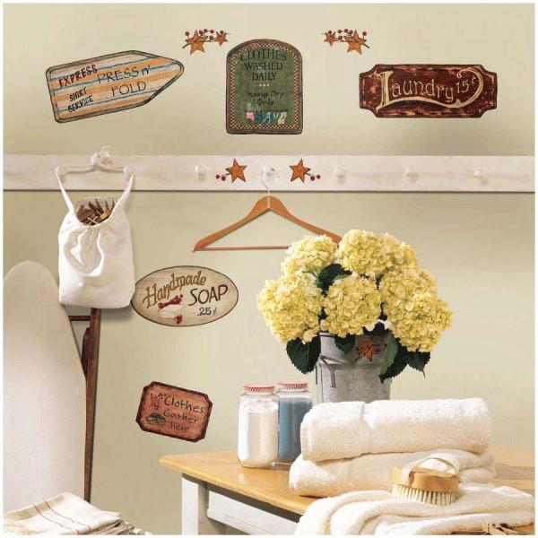 Wandsticker Landhaus Küche Waschküche
