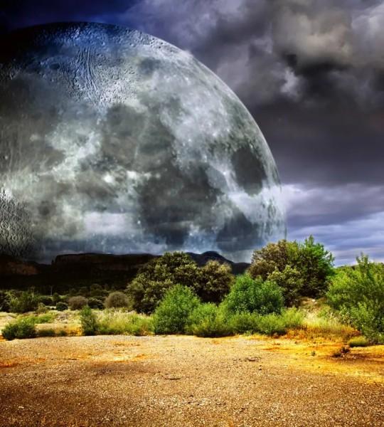 Vliestapete Mondfinsternis 225x250