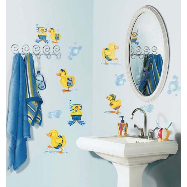 Wandsticker Badeenten Seifenblasen Bad