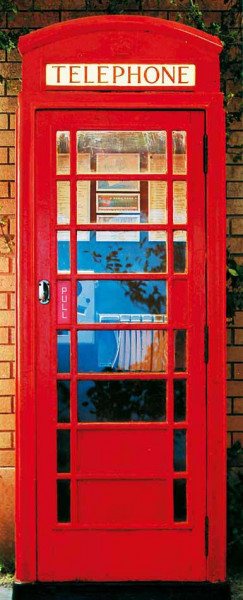 Türtapete Türposter Telefonzelle