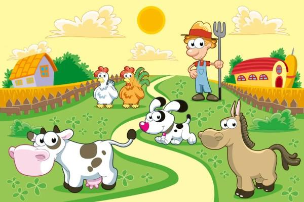 Vliestapete Mein kleiner Bauernhof 375x250