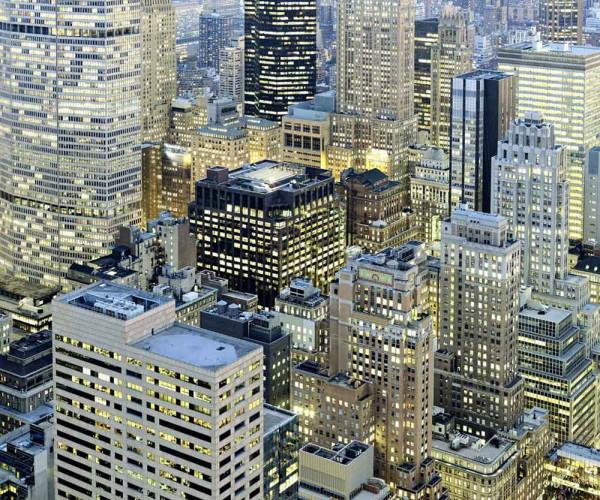 Vliestapete Fototapete Nacht in Manhattan