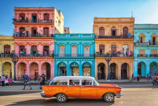 Vlies Fototapete Havanna Hausfassaden