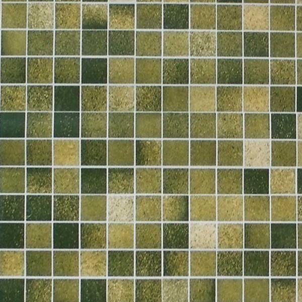 Tapete selbstklebend Mosaik Fliesen grün Details