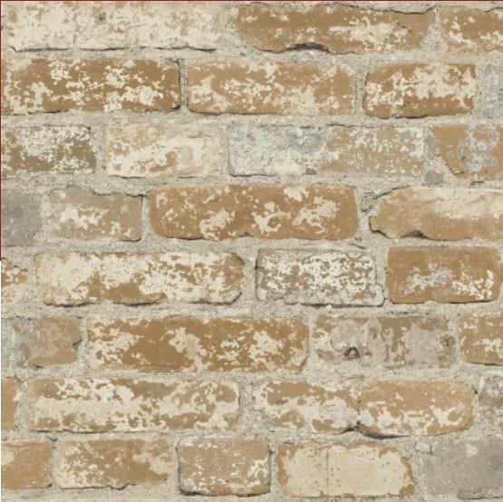 Tapete Steinwand selbstklebend braun