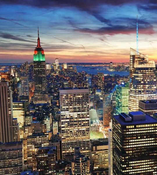 Vliestapete New York Wolkenkratzer 225x250