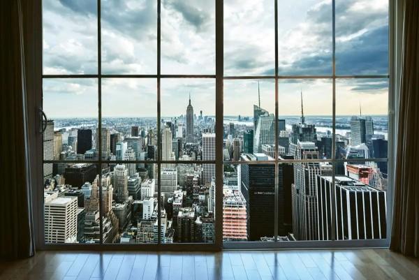 Vliestapete Blick über Manhattan 375x250