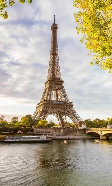Vlies Fototapete Seine Brücke 150x250