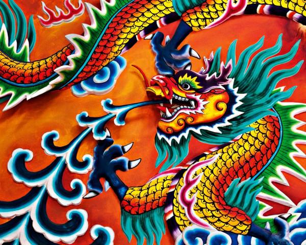 Fototapete Vlies Wandbild chinesischer Drachen