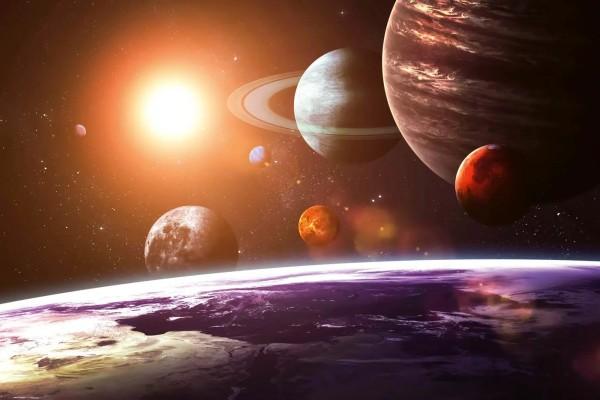 Vliestapete Sonnensystem 375x250