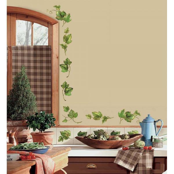 Wandtattoo Blatt Efeuranken Küche
