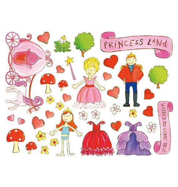 Wandsticker Wallplay Prinzessinnen Land