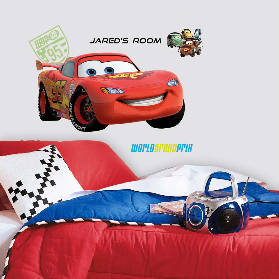 Wandsticker Disney Cars Lightning McQueen Buchstaben