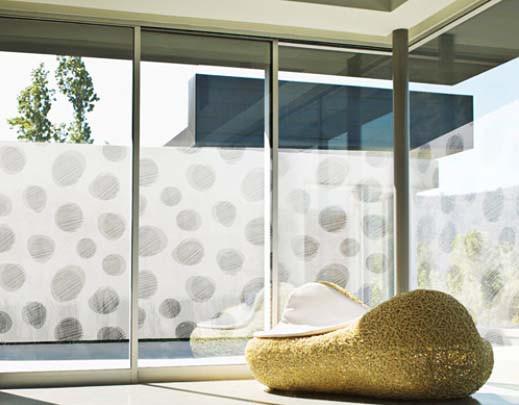 Fensterfolie selbstklebend große Kieselsteine