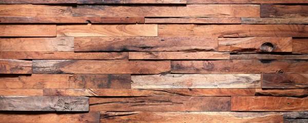 Panorama Vliestapete Holzwand 375x150