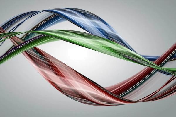 Vliestapete glänzende Farbwellen 375x250