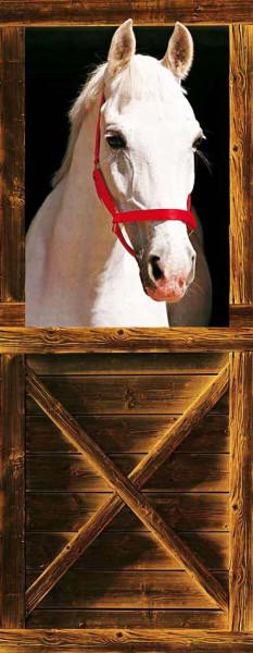 Türtapete Türposter Pferd im Stall