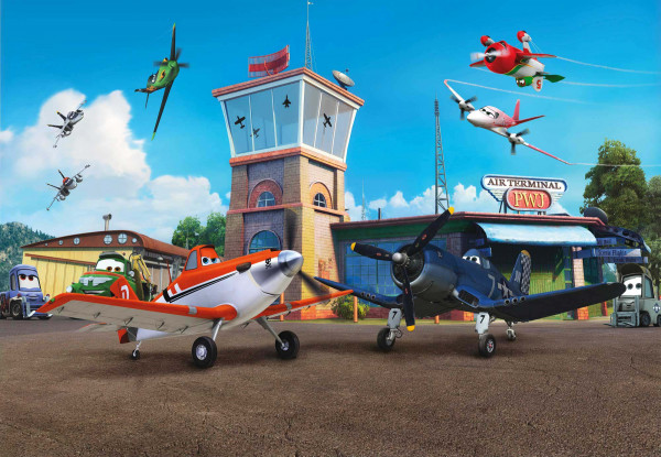 Fototapete Disney Planes Flughafen