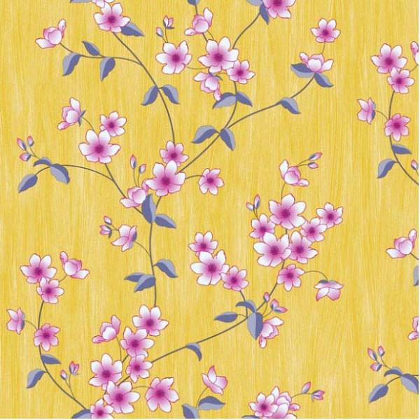 Tapete Blumenranken Seideneffekt lila