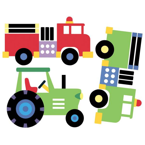 Wandsticker Fahrzeuge Autos Loks Traktoren