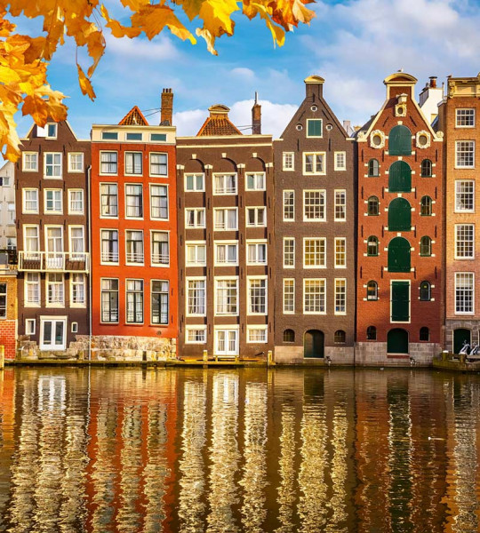 Vliestapete Holland Häuser 225x250