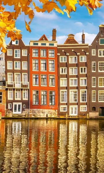 Vlies Fototapete Holland Häuser 150x250