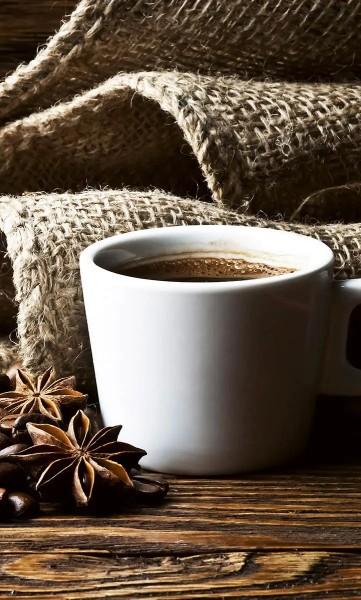 Vlies Fototapete Tasse Kaffee 150x250