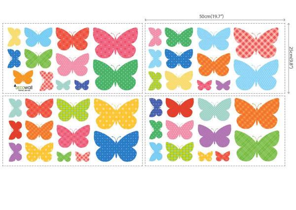 Wandsticker gemusterte Schmetterlinge