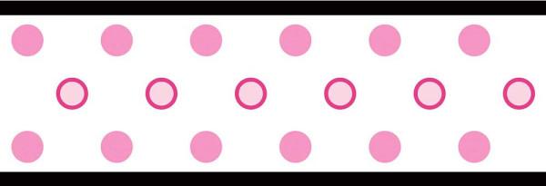 Bordüre weiße Punkte selbstklebend