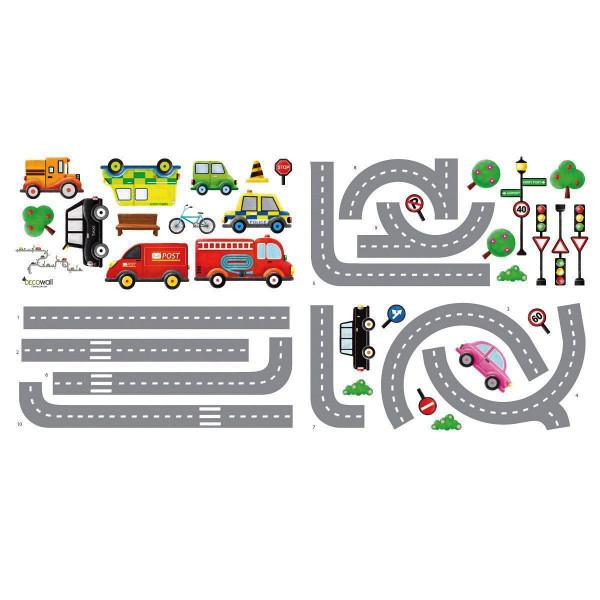 Wandsticker Autobahn Straßen Autos
