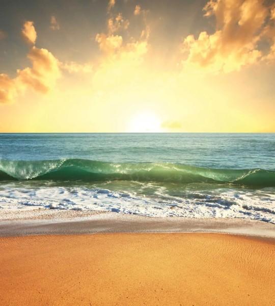 Vliestapete Sonnenuntergang am Meer 225x250
