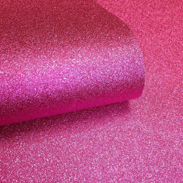 Tapete pink Glitter Effekt