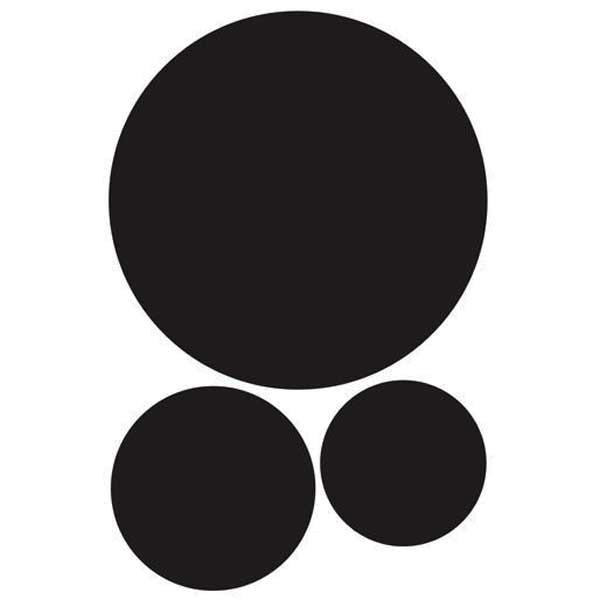 Kreidetafel Wandsticker runde Kreise Tafelfolie