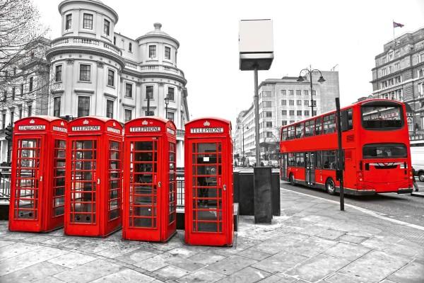 Vliestapete London Calling 375x250