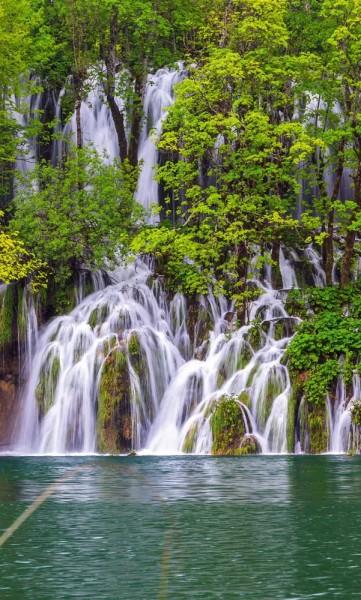 Vlies Fototapete Plitvicer Seen Kroatien 150x250