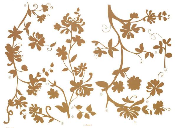 Wandsticker Blütenranken