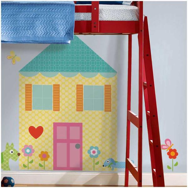 Wandsticker Wandbild Spielhaus Kinderzimmer