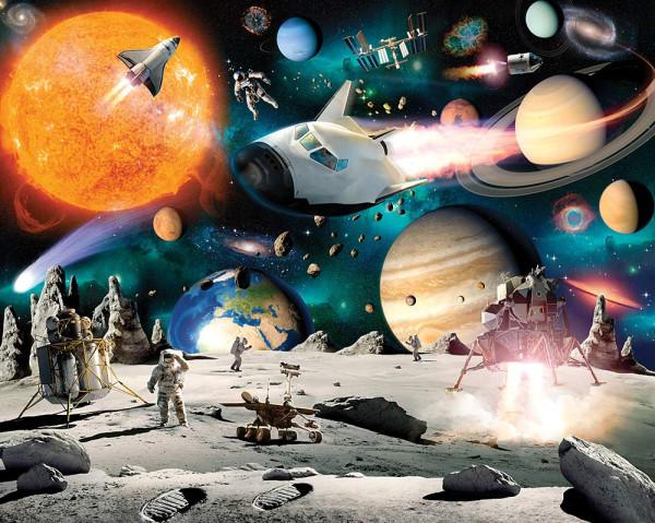 Fototapete Weltraum Planeten Mondlandung