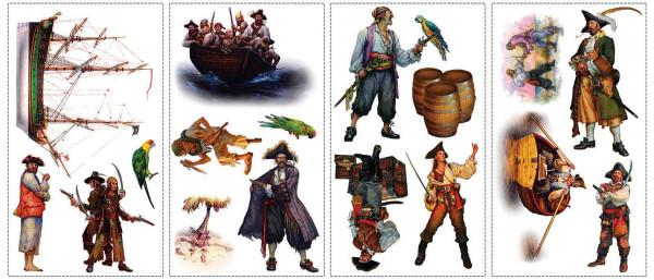 Wandsticker Piraten
