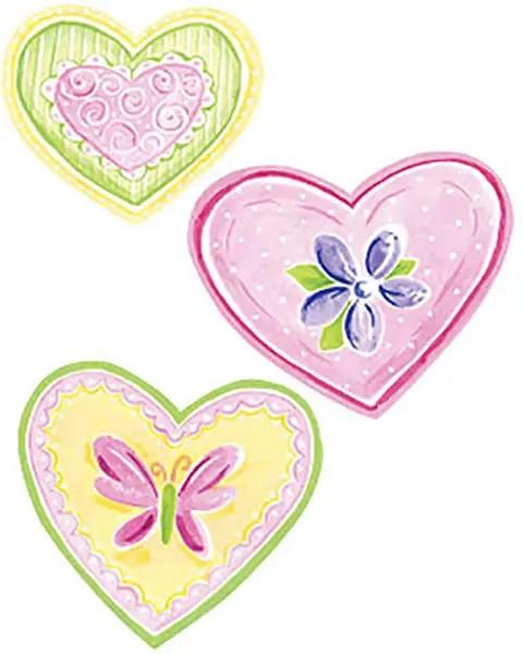 Wandtattoo Pinke Herzen