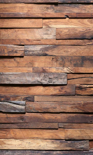 Vlies Fototapete Holzwand 150x250