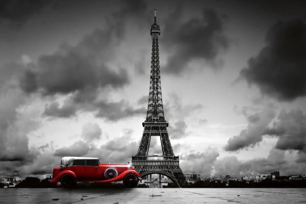 Vliestapete Oldtimer in Paris 375x250