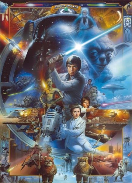 Fototapete Star Wars Luke Skywalker Collage