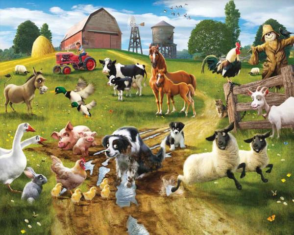 Walltastic Fototapete Tiere Bauernhof Farm