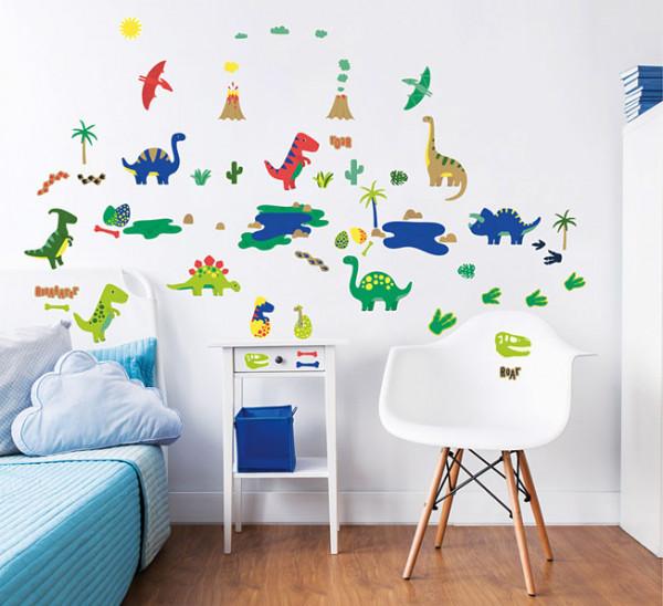 Wandsticker Dinosaurier Park Babyzimmer Verarbeitung