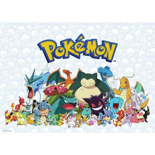 RoomMates Wandbild Pokemon Figuren