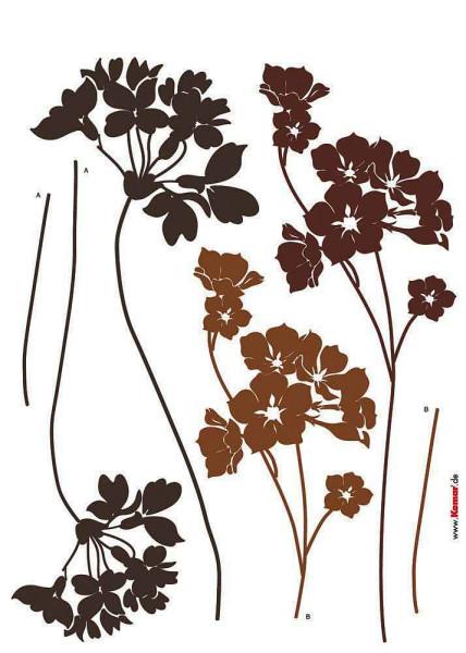 Wandsticker Wildblume Wiesen Schaumkraut