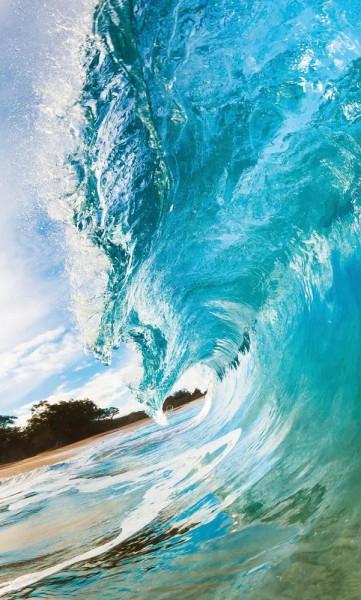 Vlies Fototapete Meereswelle 150x250